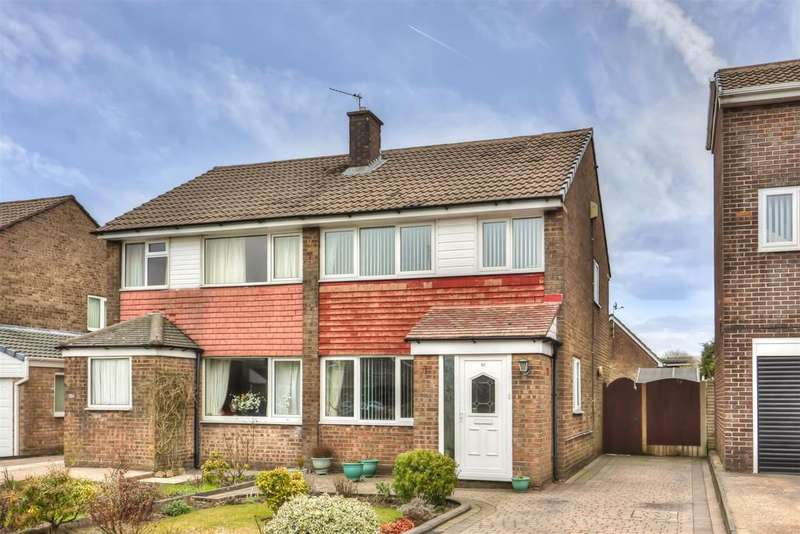 3 Bedrooms Semi Detached House for sale in Chichester Close, Smithy Bridge, OL15 8QL