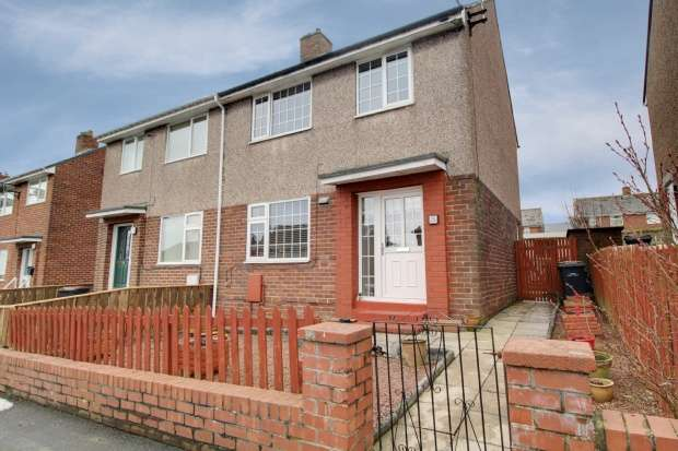3 Bedrooms Semi Detached House for sale in Castledene Road, Consett, Durham, DH8 7HQ