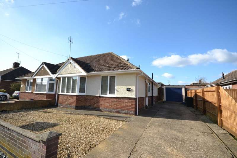 2 Bedrooms Semi Detached Bungalow for sale in Stanfield Road, Duston, Northampton, NN5