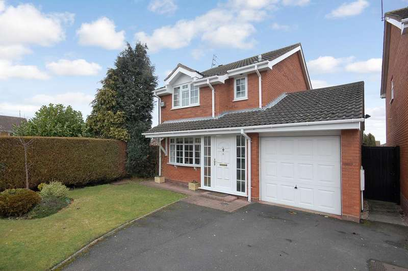 3 Bedrooms Detached House for sale in BUTTERFIELD CLOSE, Perton, Wolverhampton WV6