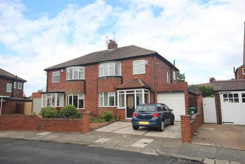 3 Bedrooms Semi Detached House for sale in Longridge Drive, Whitley Lodge, Whitley Bay, NE26