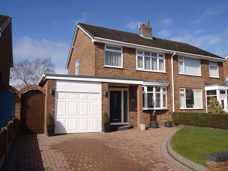 3 Bedrooms Semi Detached House for sale in Laurel Close, Barnton, CW8 4LU