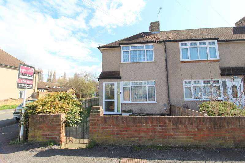 3 Bedrooms End Of Terrace House for sale in Cranford Avenue, Stanwell, Staines-upon-Thames, TW19