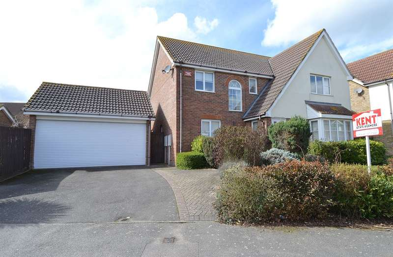 4 Bedrooms Detached House for sale in Blackberry Way, South Tankerton, Whitstable