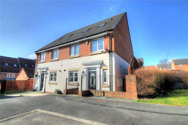 4 Bedrooms Semi Detached House for sale in Highfield Rise, Chester le Street, County Durham, DH3