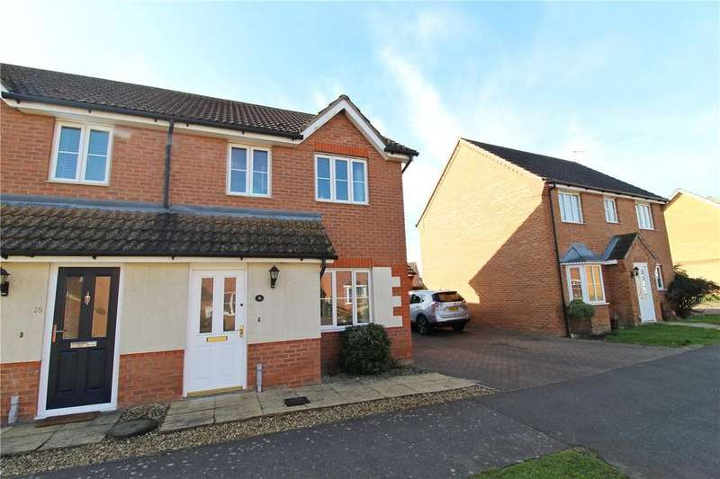 3 Bedrooms Semi Detached House for sale in Haywain Drive, Deeping St. Nicholas, Spalding, Lincolnshire, PE11