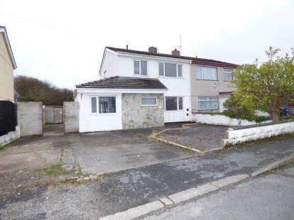 3 Bedrooms Semi Detached House for sale in Tynrhos Estate, Caergeiliog, Holyhead, Anglesey, LL65
