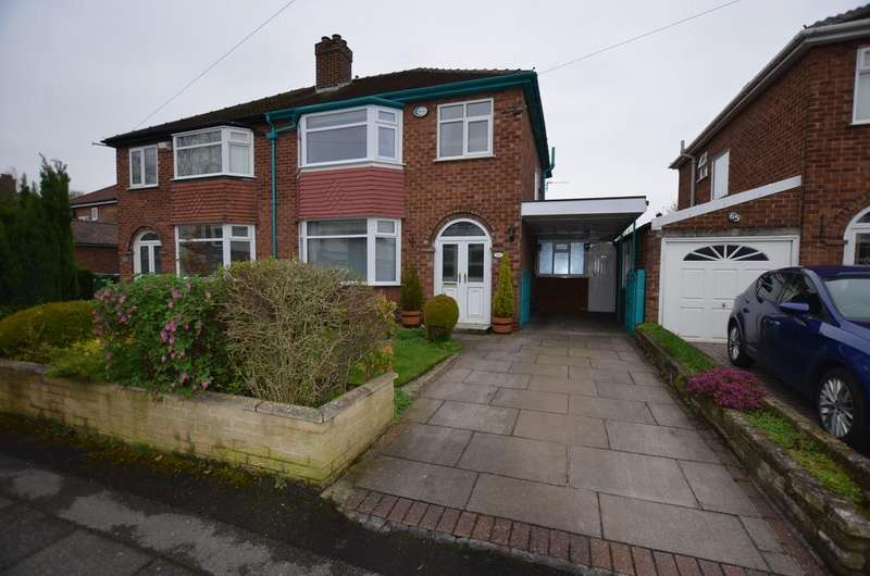 3 Bedrooms Semi Detached House for sale in Moss Lane, Timperley WA15