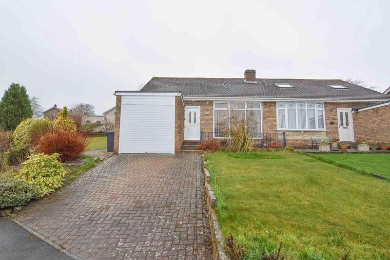2 Bedrooms Semi Detached Bungalow for sale in Foxhill Crescent, Lanchester, DH7 0PP