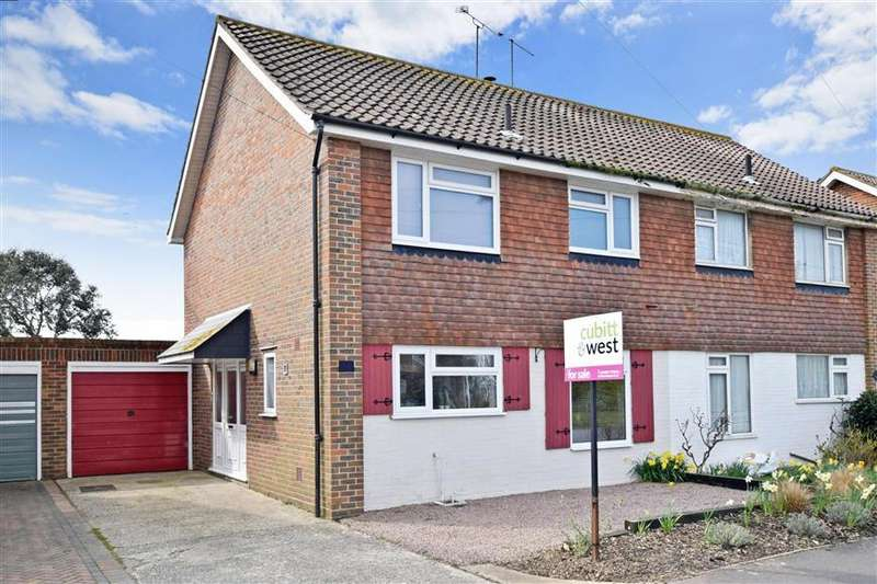 3 Bedrooms Semi Detached House for sale in Shaftesbury Road, Rustington, West Sussex