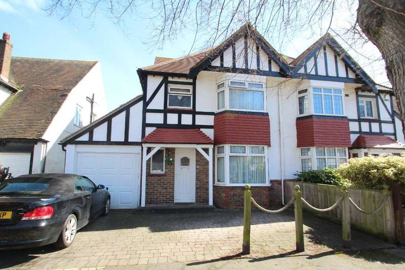 4 Bedrooms Semi Detached House for sale in St. Keyna Avenue, Hove, East Sussex, BN3 4PN
