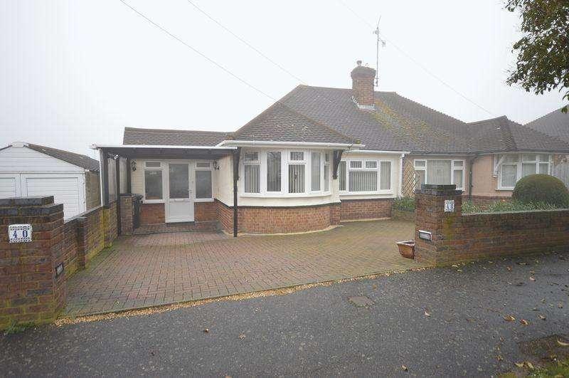 2 Bedrooms Semi Detached Bungalow for sale in Derwent Avenue, Luton