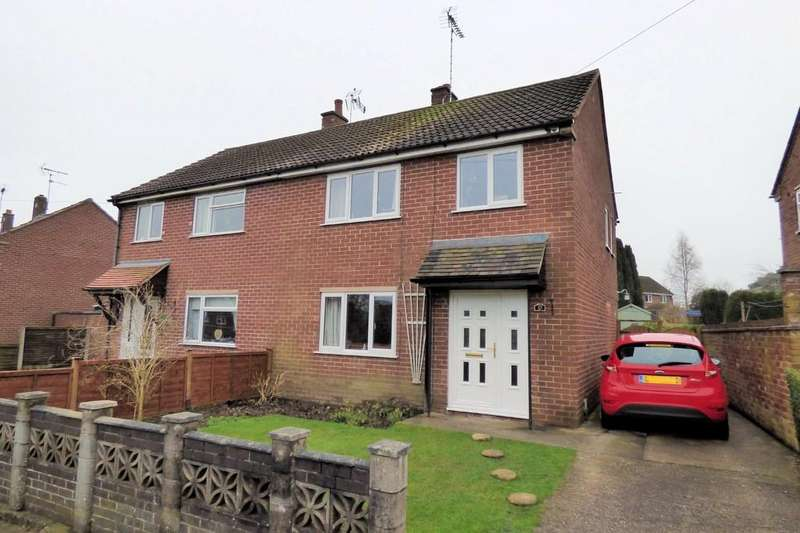 3 Bedrooms Semi Detached House for sale in Mosley Drive, Uttoxeter