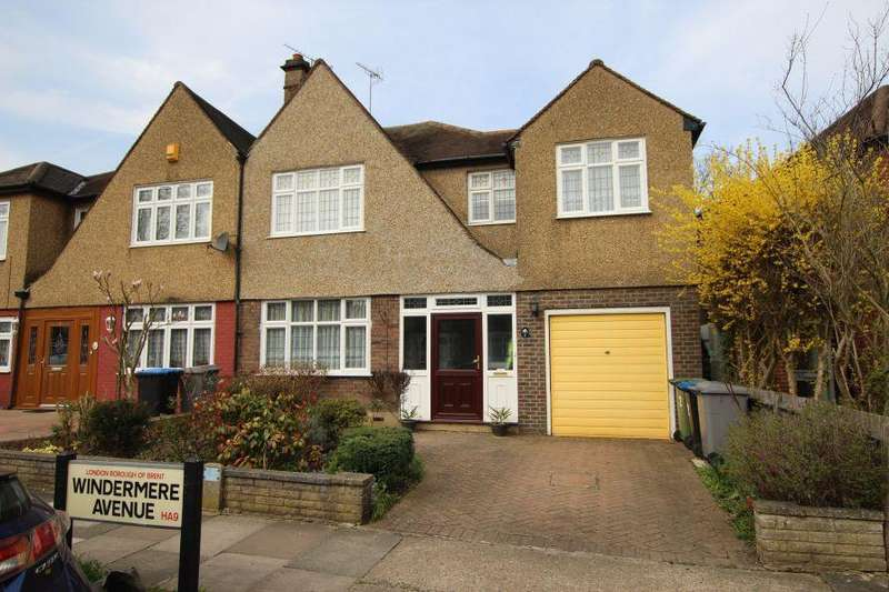 4 Bedrooms Semi Detached House for sale in Windermere Avenue, South Kenton HA9 8SF