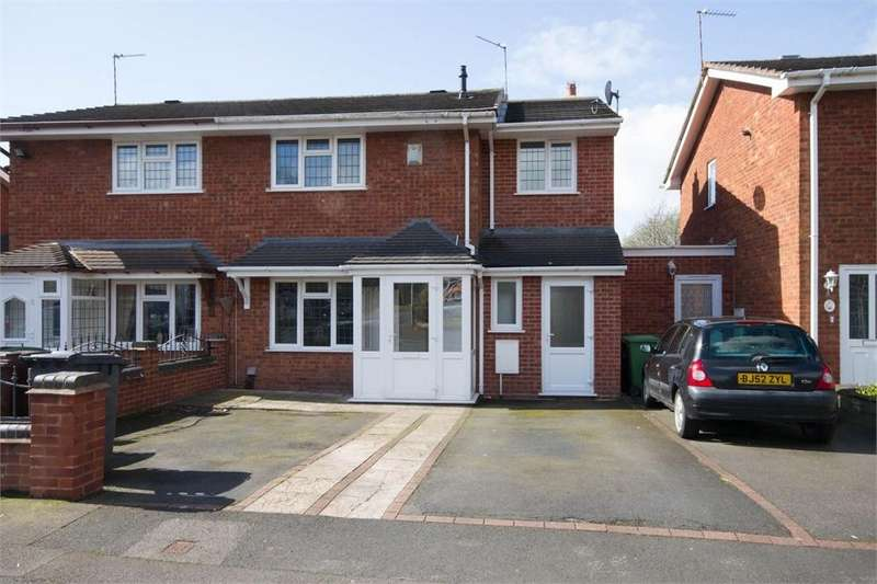 3 Bedrooms Semi Detached House for sale in Marlowe Drive, Willenhall, West Midlands