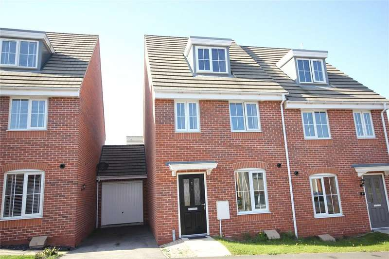 3 Bedrooms Semi Detached House for sale in Parliament Way, Clipstone Village, Nottinghamshire, NG21