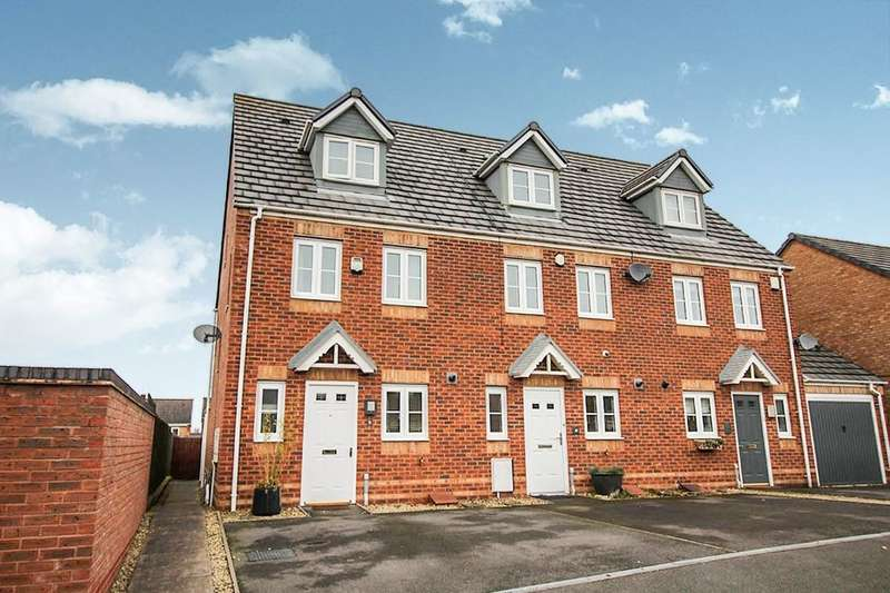 3 Bedrooms Terraced House for sale in Strauss Drive, Heath Hayes, Cannock, WS11