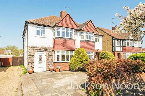 3 Bedrooms Semi Detached House for sale in Mortimer Crescent, Worcester Park