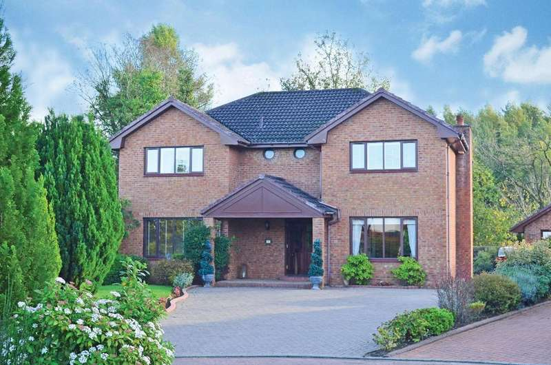 4 Bedrooms Detached House for sale in Hunting Lodge Gardens, Hamilton, Lanarkshire, ML3 7EB