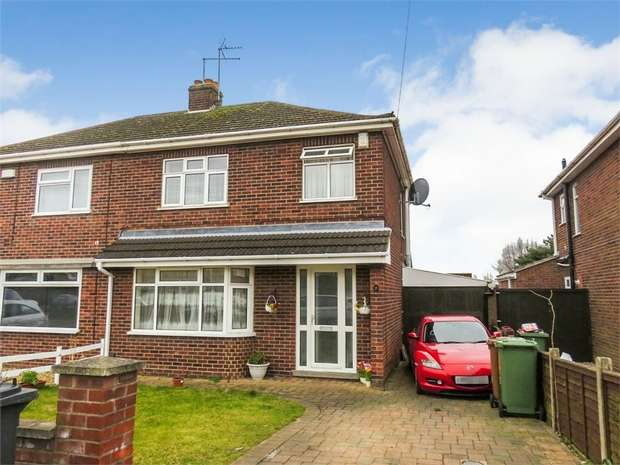 3 Bedrooms Semi Detached House for sale in Wright Avenue, Peterborough, Cambridgeshire
