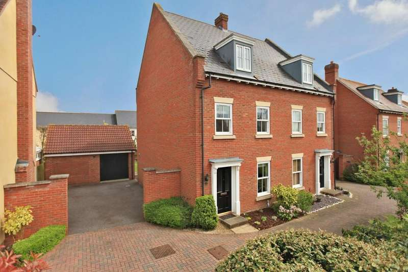 4 Bedrooms Town House for sale in Gershwin Boulevard, Witham, CM8 1HW