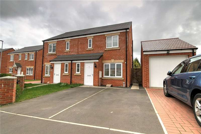 3 Bedrooms Semi Detached House for sale in Sandringham Way, Newfield, Chester Le Street, DH2