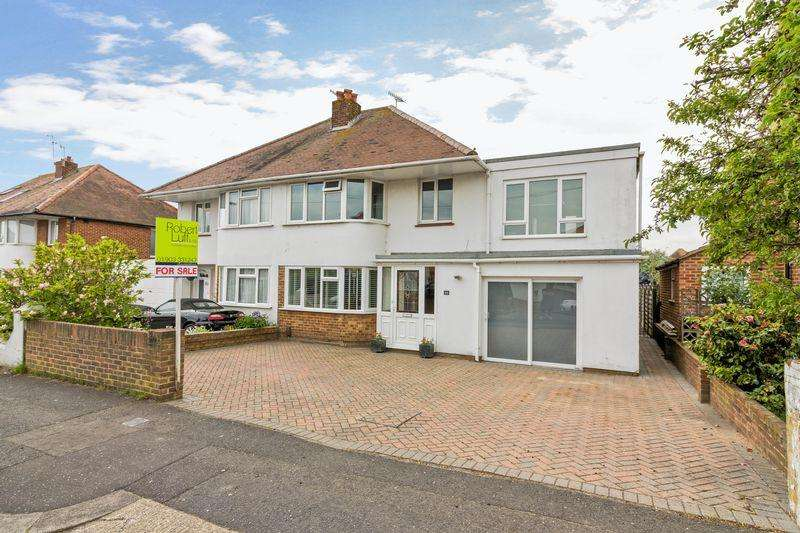 4 Bedrooms Semi Detached House for sale in Glebeside Avenue, Worthing