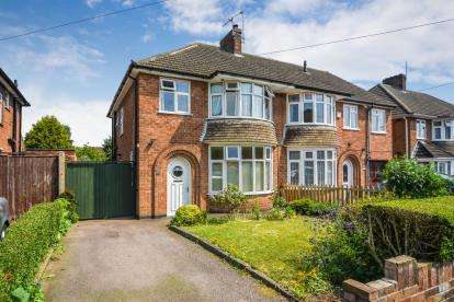 3 Bedrooms Semi Detached House for sale in Hawthorne Avenue, Birstall, Leicester, Leicestershire