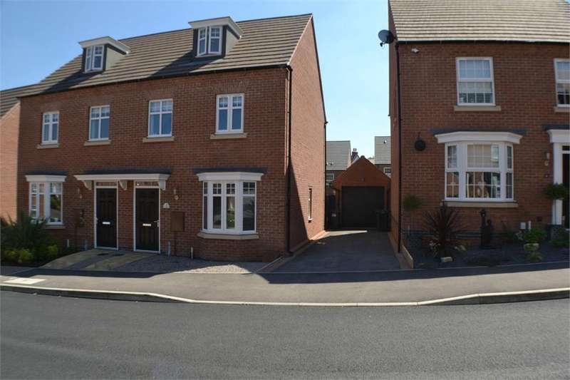3 Bedrooms Semi Detached House for sale in Amsterdam Drive, Hinckley, Leicestershire