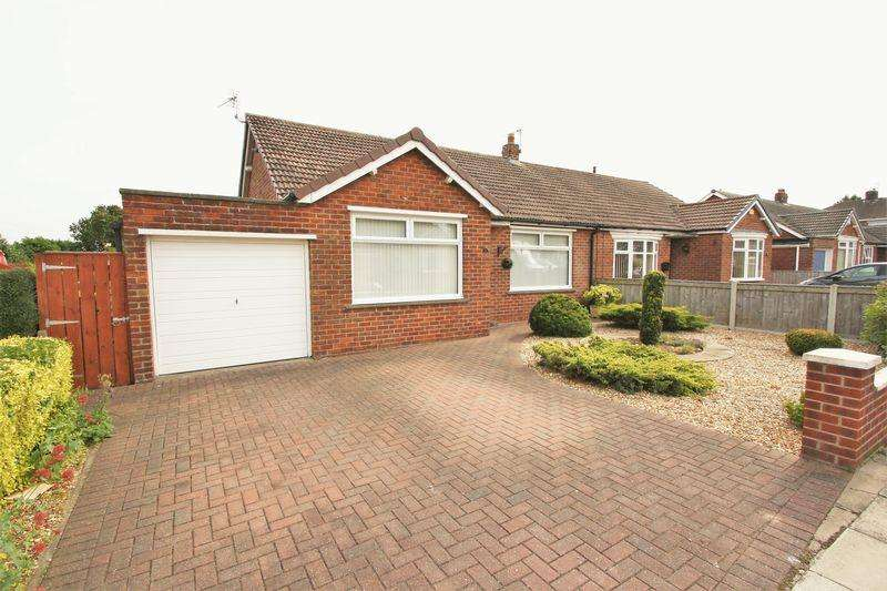 2 Bedrooms Semi Detached Bungalow for sale in Rounton Grove, Fairfield, Stockton, TS19 7QL