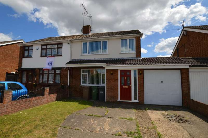 3 Bedrooms Semi Detached House for sale in Kinross Crescent, Luton, Bedfordshire, LU3 3JS
