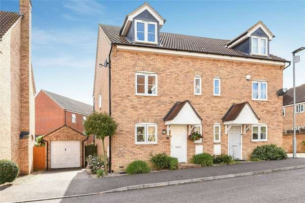 3 Bedrooms Semi Detached House for sale in Silverburn Close, Bedford