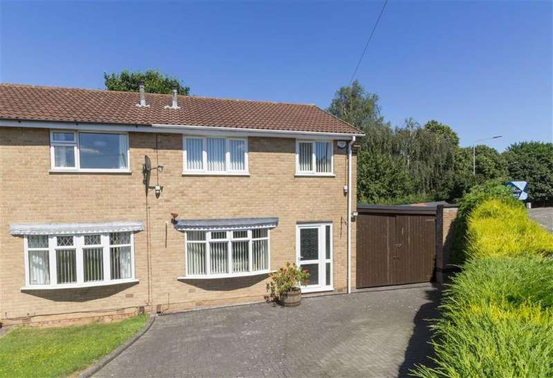 3 Bedrooms Semi Detached House for sale in Doyle Close, Loughborough, LE11