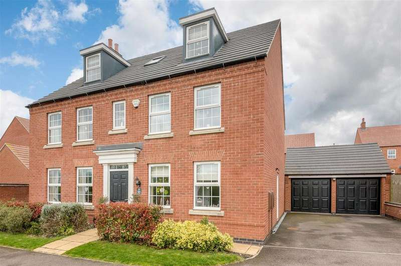 5 Bedrooms Detached House for sale in Jubilee Way, Burbage, Hinckley