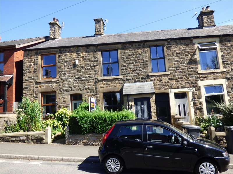 3 Bedrooms Terraced House for sale in Newshaw Lane, Hadfield, Glossop, Derbyshire, SK13