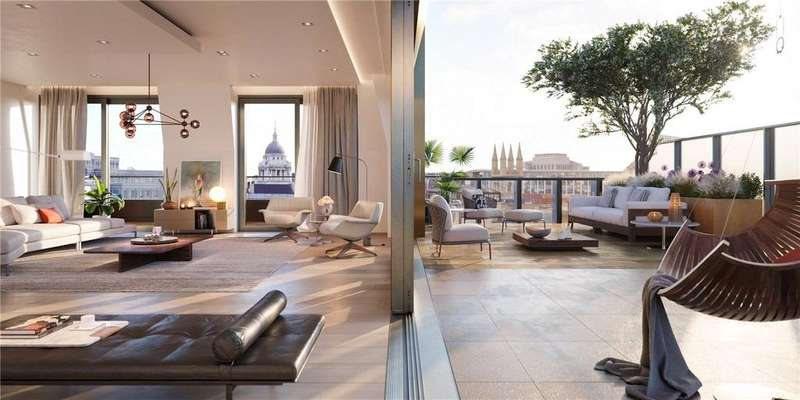 3 Bedrooms Penthouse Flat for sale in Barts Square, 56 West Smithfield, Smithfield Market, City Of London, EC1A