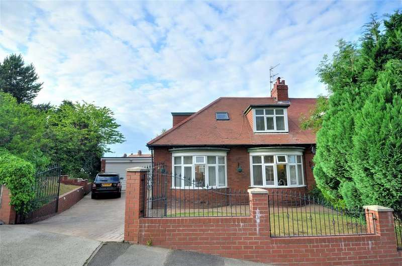 3 Bedrooms Semi Detached Bungalow for sale in Mill Bank, Fulwell, Sunderland