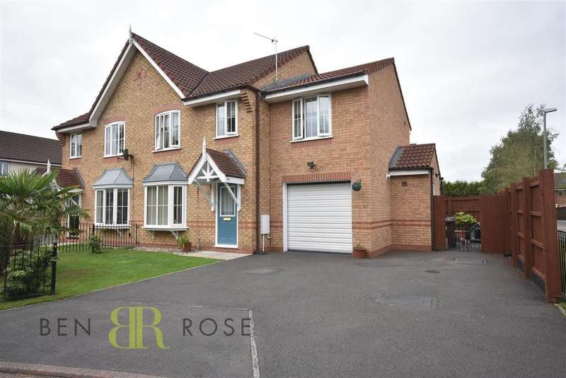 4 Bedrooms Semi Detached House for sale in Kennett Drive, Leyland