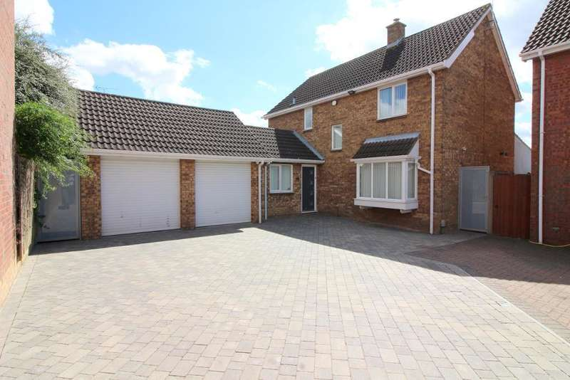 4 Bedrooms Detached House for sale in Willenhall Close, Luton, Bedfordshire, LU3 3XX