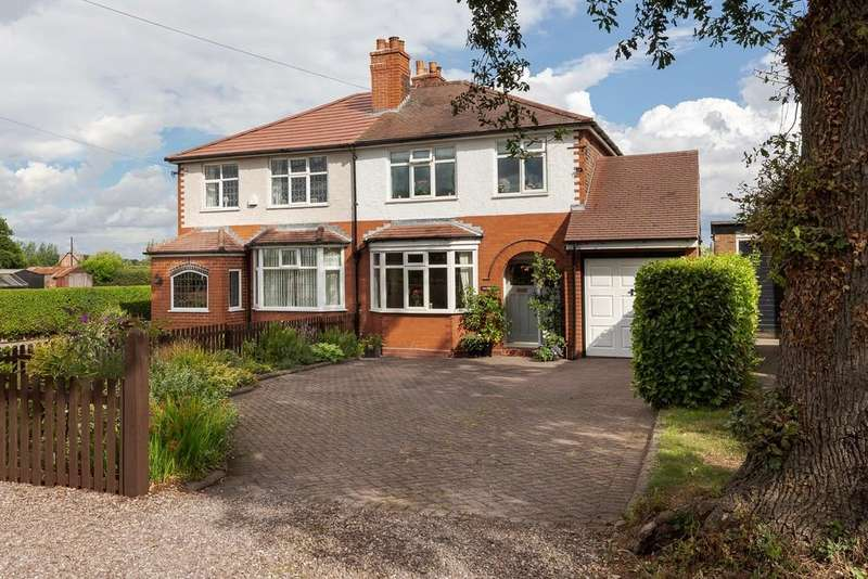 3 Bedrooms Semi Detached House for sale in Easingwold, Smithy Lane, Little Leigh, CW8 4RA