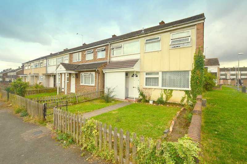 4 Bedrooms End Of Terrace House for sale in Flint Close, Luton, Bedfordshire, LU3 3LX