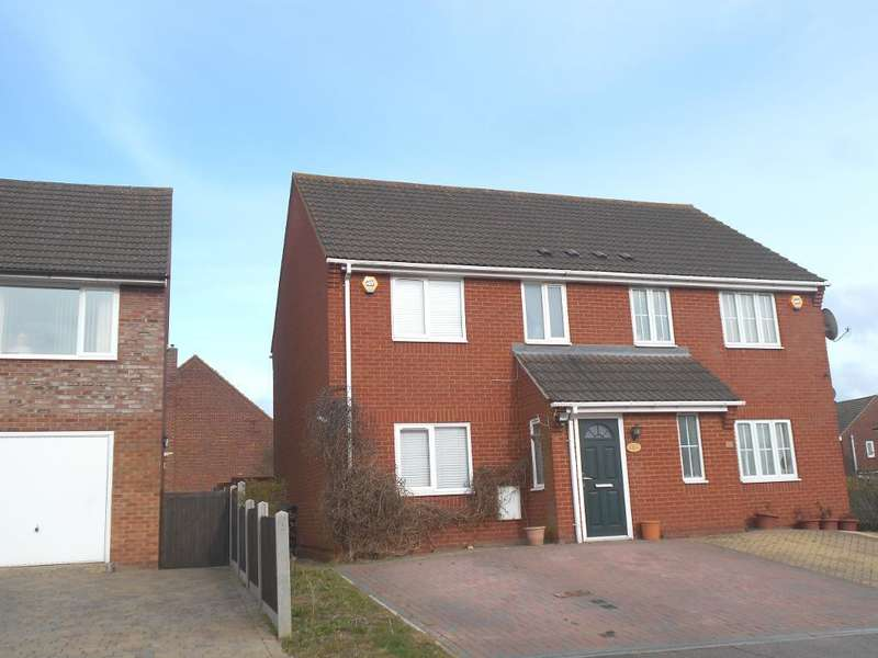 3 Bedrooms Semi Detached House for sale in Canberra Road, Shortstown, Bedfordshire, MK42 0UZ