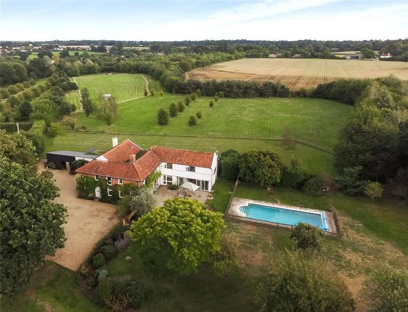 6 Bedrooms Detached House for sale in Hasketon, Nr Woodbridge, Suffolk, IP13