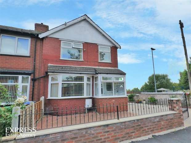 3 Bedrooms End Of Terrace House for sale in Cravenwood Road, Manchester