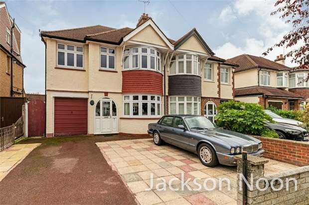 4 Bedrooms Semi Detached House for sale in Bradford Drive, Ewell Court