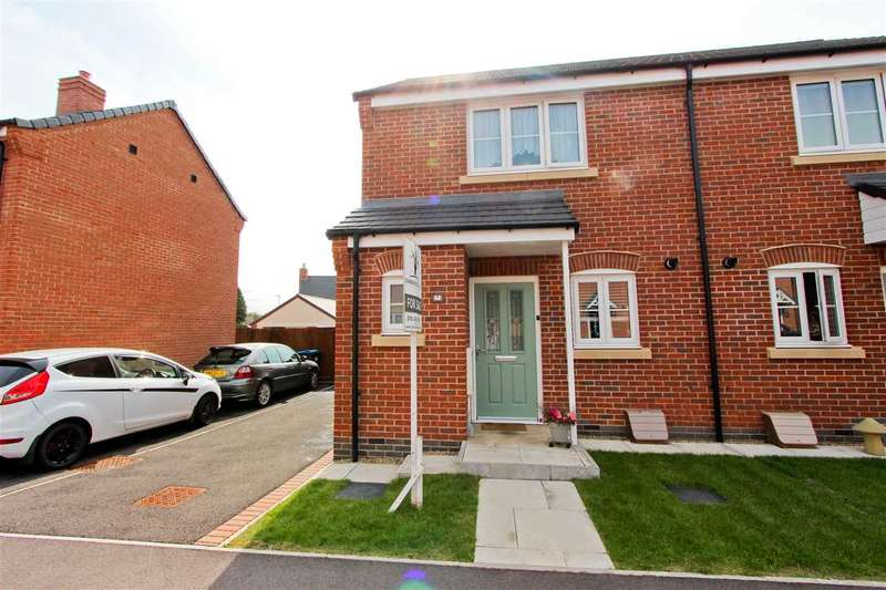 2 Bedrooms Semi Detached House for sale in Border Close, Glenfield