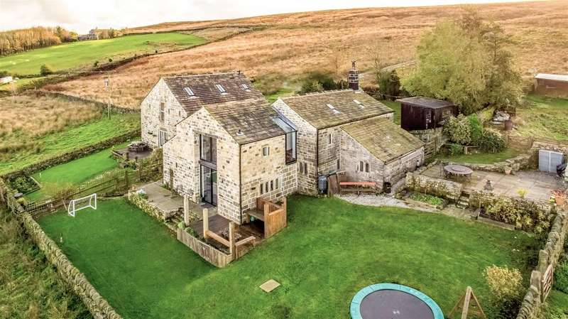 5 Bedrooms Detached House for sale in Bell House and Barn, Cragg Vale, Hebden Bridge, HX7 5RU
