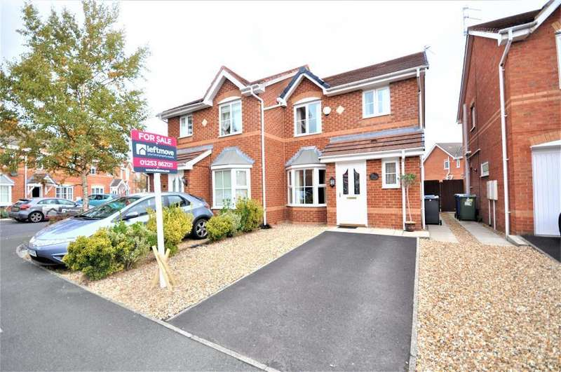 3 Bedrooms Semi Detached House for sale in Chequers Way, Thornton, Thornton Cleveleys, Lancashire, FY5 4FS
