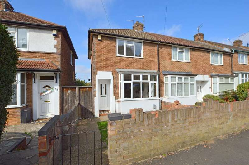 2 Bedrooms End Of Terrace House for sale in Pomfret Avenue, Round Green, Luton, LU2 0JL