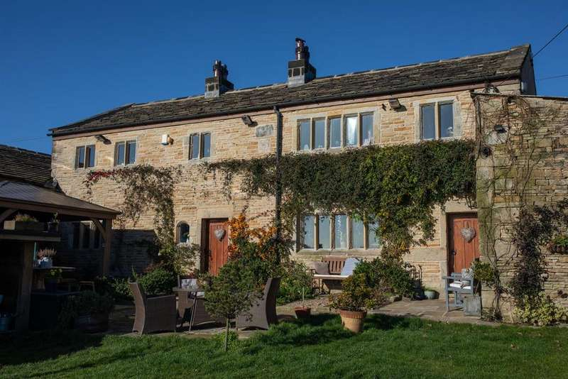 4 Bedrooms Farm House Character Property for sale in Delfs Farm and Barn, Delfs Lane, Cottonstones, Triangle, HX6 3EX